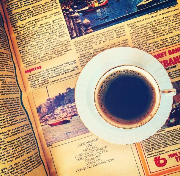 coffee newspaper